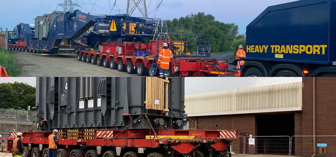 Two 335-ton transformers arrive to Sellindge Substation in Kent
