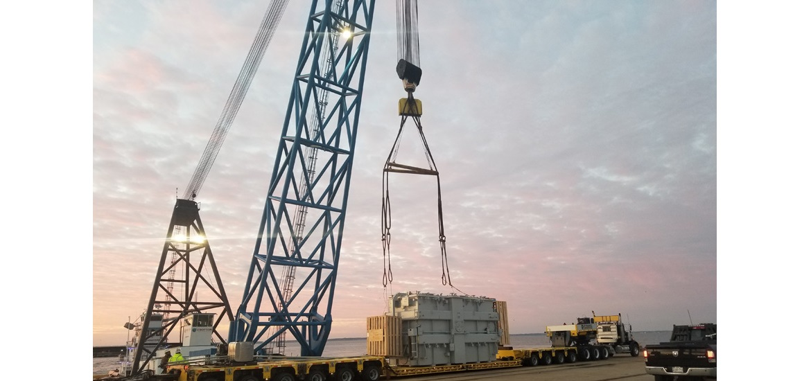 211-ton transformer successfully moved to Newport News substation transformer technology